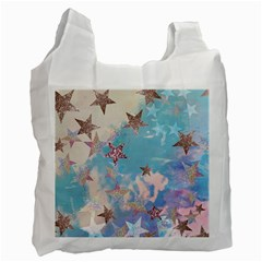 Pastel Colored Stars  Recycle Bag (one Side) by Brittlevirginclothing