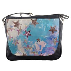 Pastel Colored Stars  Messenger Bags by Brittlevirginclothing