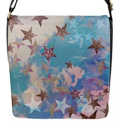 Pastel Colored Stars  Flap Messenger Bag (s) by Brittlevirginclothing