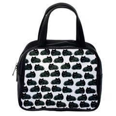 Black Cat Classic Handbags (one Side) by Brittlevirginclothing