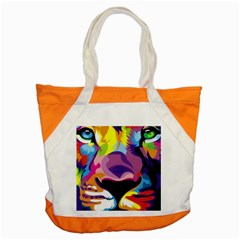 Colorful Lion s Face  Accent Tote Bag by Brittlevirginclothing