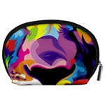 Colorful lion s face  Accessory Pouches (Large)  Back
