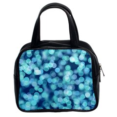 Blue Toned Light  Classic Handbags (2 Sides) by Brittlevirginclothing