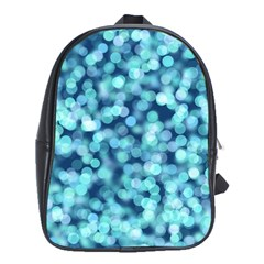 Blue Toned Light  School Bags (xl)  by Brittlevirginclothing