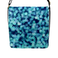 Blue Toned Light  Flap Messenger Bag (l)  by Brittlevirginclothing