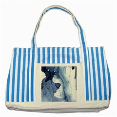Paint In Water Striped Blue Tote Bag by Brittlevirginclothing