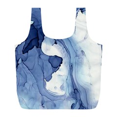 Paint In Water Full Print Recycle Bags (l)  by Brittlevirginclothing