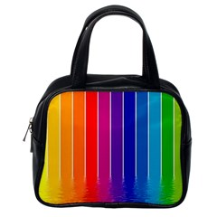 Fading Rainbow Classic Handbags (one Side) by Brittlevirginclothing