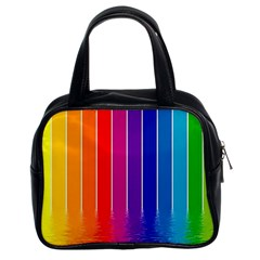 Fading Rainbow Classic Handbags (2 Sides) by Brittlevirginclothing