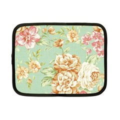 Vintage Pastel Flowers Netbook Case (small)  by Brittlevirginclothing