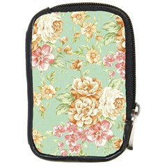 Vintage Pastel Flowers Compact Camera Cases by Brittlevirginclothing
