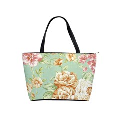 Vintage Pastel Flowers Shoulder Handbags by Brittlevirginclothing