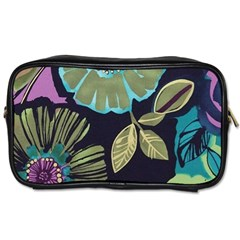 Lila Toned Flowers Toiletries Bags 2 Side by Brittlevirginclothing