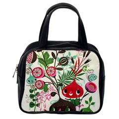 Cute Flower Cartoon  Characters  Classic Handbags (one Side) by Brittlevirginclothing