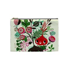 Cute Flower Cartoon  Characters  Cosmetic Bag (medium)  by Brittlevirginclothing