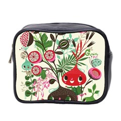 Cute Flower Cartoon  Characters  Mini Toiletries Bag 2 Side by Brittlevirginclothing