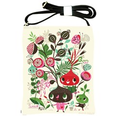 Cute Flower Cartoon  Characters  Shoulder Sling Bags by Brittlevirginclothing