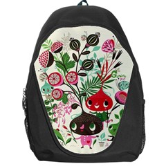 Cute Flower Cartoon  Characters  Backpack Bag by Brittlevirginclothing