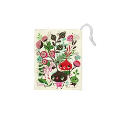 Cute Flower Cartoon  Characters  Drawstring Pouches (xs)  by Brittlevirginclothing