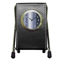 Gray Line Pen Holder Desk Clocks