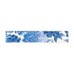 Blue Flowers Flano Scarf (mini) by Brittlevirginclothing
