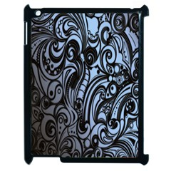 Gray Batik Blue Apple Ipad 2 Case (black)
