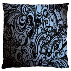 Gray Batik Blue Standard Flano Cushion Case (one Side)