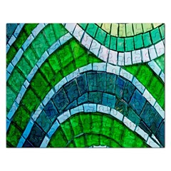 Green Rectangular Jigsaw Puzzl by Jojostore