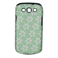 Pink Flowers On Light Green Samsung Galaxy S Iii Classic Hardshell Case (pc+silicone) by Jojostore