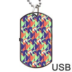 Horse Unicron Dog Tag Usb Flash (one Side)