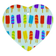 Popsicle Heart Ornament (two Sides) by Jojostore