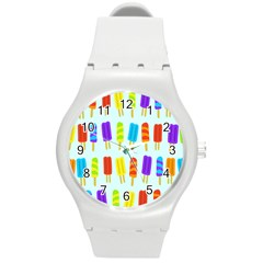 Popsicle Round Plastic Sport Watch (m)