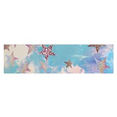 Pastel Stars Satin Scarf (oblong) by Brittlevirginclothing