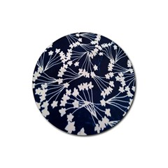 Flower Blue Jpeg Rubber Coaster (round)  by Jojostore