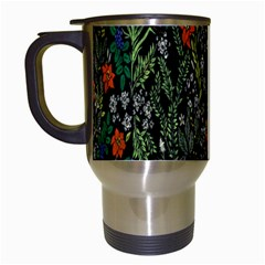 Detail Of The Collection s Floral Pattern Travel Mugs (white) by Jojostore