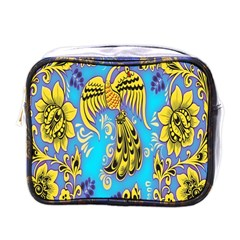 Khokhloma Birds Flowers Mini Toiletries Bags