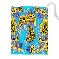 Khokhloma Birds Flowers Drawstring Pouches (xxl) by Jojostore