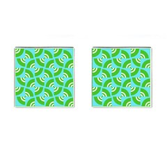 Easy Peasy Lime Squeezy Green Cufflinks (square)