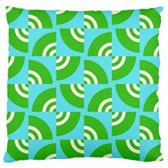 Easy Peasy Lime Squeezy Green Large Cushion Case (one Side)