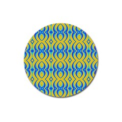 Blue Yellow Magnet 3  (round)