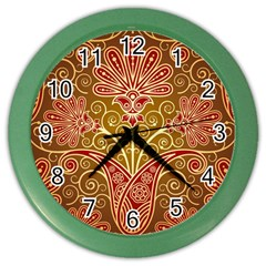 European Fine Batik Flower Brown Color Wall Clocks by Jojostore