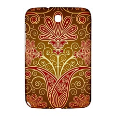 European Fine Batik Flower Brown Samsung Galaxy Note 8 0 N5100 Hardshell Case  by Jojostore