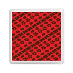 Diogonal Flower Red Memory Card Reader (square)  by Jojostore