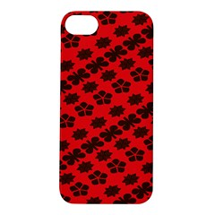 Diogonal Flower Red Apple Iphone 5s/ Se Hardshell Case