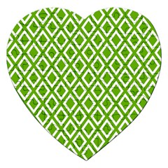 Diamonds Green White Jigsaw Puzzle (heart)