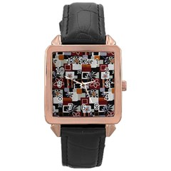 Flower 1 Rose Gold Leather Watch