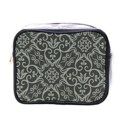 Flower Batik Gray Mini Toiletries Bags
