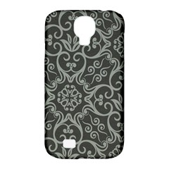 Flower Batik Gray Samsung Galaxy S4 Classic Hardshell Case (pc+silicone)