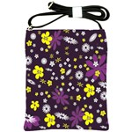 Floral Purple Flower Yellow Shoulder Sling Bags Front