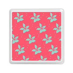 Flower Green Red Memory Card Reader (square)  by Jojostore